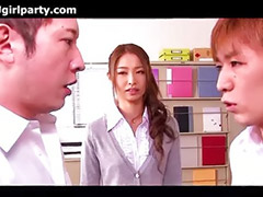 Japanese, Asian teacher, Asians teacher, Japanese threesome, Two teacher, Threesome japanese