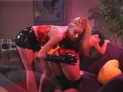 Femdom, Whip, Spanking lesbian, Lesbian stockings, Whipping, Lesbians hair