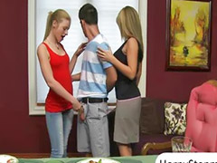 Teen threesome, Threesome, Teen, Milf