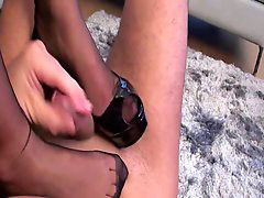 Stocking footjob, Footj, Stocking cum, Footjobs, Stocks footjob, Stocking footjobs