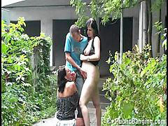 Risk, Pregnant threesome, Risky, Way way, Risky public, Public threesome