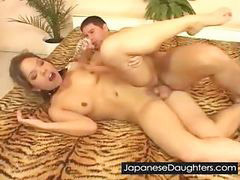 Daughter, Japanese anal, Rough, Anal