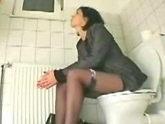 Sister, Toilet, Sister cumming, Amanda, Toilet toilet, Sister cums
