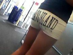 Voyeur short shorts, Up close teen, Teen nice, Teen close up, White shorts, White amateur