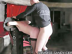 Caning, Caned and fucked, Brunette whore, Andy, Sandy, Caned