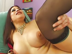 Big tits brunettes, Big cock blowjob, Stocking footjob, Footj, Stocking cum, Big tits sucks