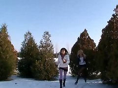 Threesome teens blowjob, Teen face sitting, Teen face sits, Rough threesom, Sit face, Snowing