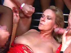 Piercing blowjob, Pierced blowjob, Multiple blowjobs, Group cumshots, Get piercing, Blonde piercing