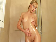 Shaving, Girls blondes, Shaved solo, Bathroom girl, Touch, Touch touch