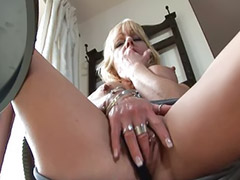 Mature masturbation, Mature masturbating, Blonde mature, Masturbating dildo, Mature piercing, Mature dildo