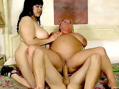 Huge cock, Lesbian, Bbw lesbian, Bbw