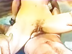 Vintage, Retro, Hairy brunette, Asian vintage, Hairy vagina, Asian spanking