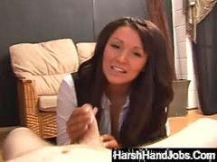 Handjob, Handjobs, Harsh handjob, Harsh handjobs, Anderson, Handjob brunette