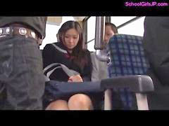 Squirt, Schoolgirl, Squirting, Bus