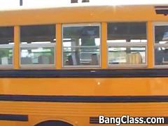 Teen, School, Bus