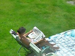 Sunbath, Spy neighbour, Neighbours, Neighbour spy, Neighboure, Neighbour
