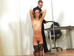 Hairy brunette, Bondage, Hairy vagina, Asian stockings, Asian toys, Hairy masturbation