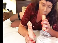 Shemale, Stocking shemale, Stockings masturbation, Shemale masturbate, Pleasures, Stocking masturbation