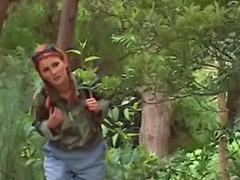 树林做爱·, 射在b里, 户外拍, 木, 射里, 户外阴交