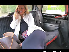 Piercing, Gagging, Blond milf, Big cock blowjob, Car masturbation, Big tit milf