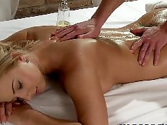 Massage, Young girl, Big tits, Massage oil, Young, Oil massage