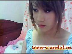 Teen, Beautiful, Scandal, Asian teen, Cam, Show