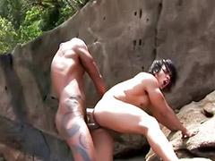 Anal bareback, Latino, Beach sex, Gay bareback, Gay latin, Latin anal