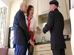 Schoolgirl, Two matures, Two mature, Taking two, Schoolgirll, Mature cock