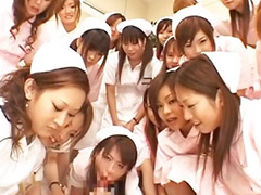 Asian, Gangbang, Nurse, Asian gangbang, Japanese nurse, Top