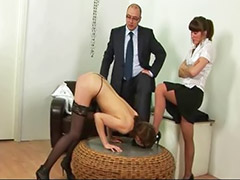 Masturbazione segretaria, Segretarie sculacciata, Segretarie punite, Masturba per