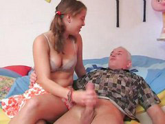 Grandpa, German, Handjob