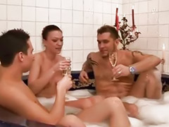 Threesome german, German threesomes, A german threesome, German threesome, Three man, Auto