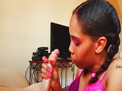 Ebony girls, Ebony black, Purple hair, Black girls, Jerking handjob, Handjob ebony