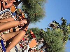 Upskirt, Beach, Italian, Beach upskirt
