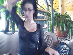 Boots, Leather, Big tits solo, Webcam brunette, Webcam tits, Fit girl
