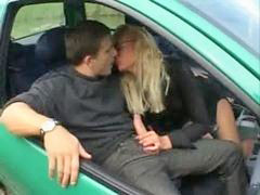 Milf, French, Car, French milf, Frenche, Milf french