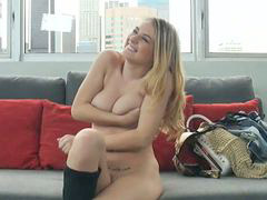 Casting, Shy, Big blonde, Cast, Castings, Casting shy