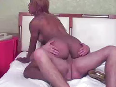 Shemale, Interracial, Interracial anal, Deepthroat