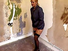 Mature blonde looking for a place to pee on the street, Blonde mature, Mature peeing, Mature blond, To look, Peeing on