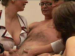 Handjob girls, Handjob girl, Four girls, Four girl, Guy handjob, Guy cfnm