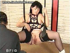 Legging, Tied spread, With slave, Spreads her, Spreading legs, Spreading e