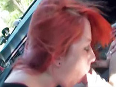 Рыжая мастурб, Минет рыжая, Дрочу в машине