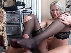 Teasing stocking, Teasing her, Tease slave, Tease foot, With slave, Stockings hot