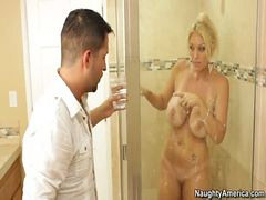 Milf, Bathroom, Facial