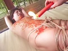 Japanese, Japanese fetish, Hot japanese, Japanese bondage, Wax, Bondage japanese