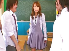 Teacher, Asian gangbang, Gangbang, Japanese teacher, Asian, Teacher japanese