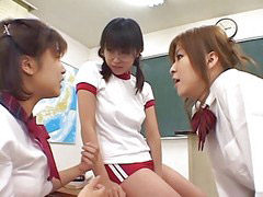Japanes school girl, Jap school, T een bukkake