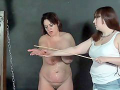 Horse, Pain, Caning, Bound, Inside, Female