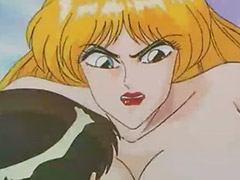 Hentai, Blowjob&fucking, Big blonde, Oral fuck, Big tits hentai, Vaginal y oral