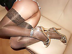 Nylon, Leggings, Legging, Nylons, Nylons milf, Nyloned